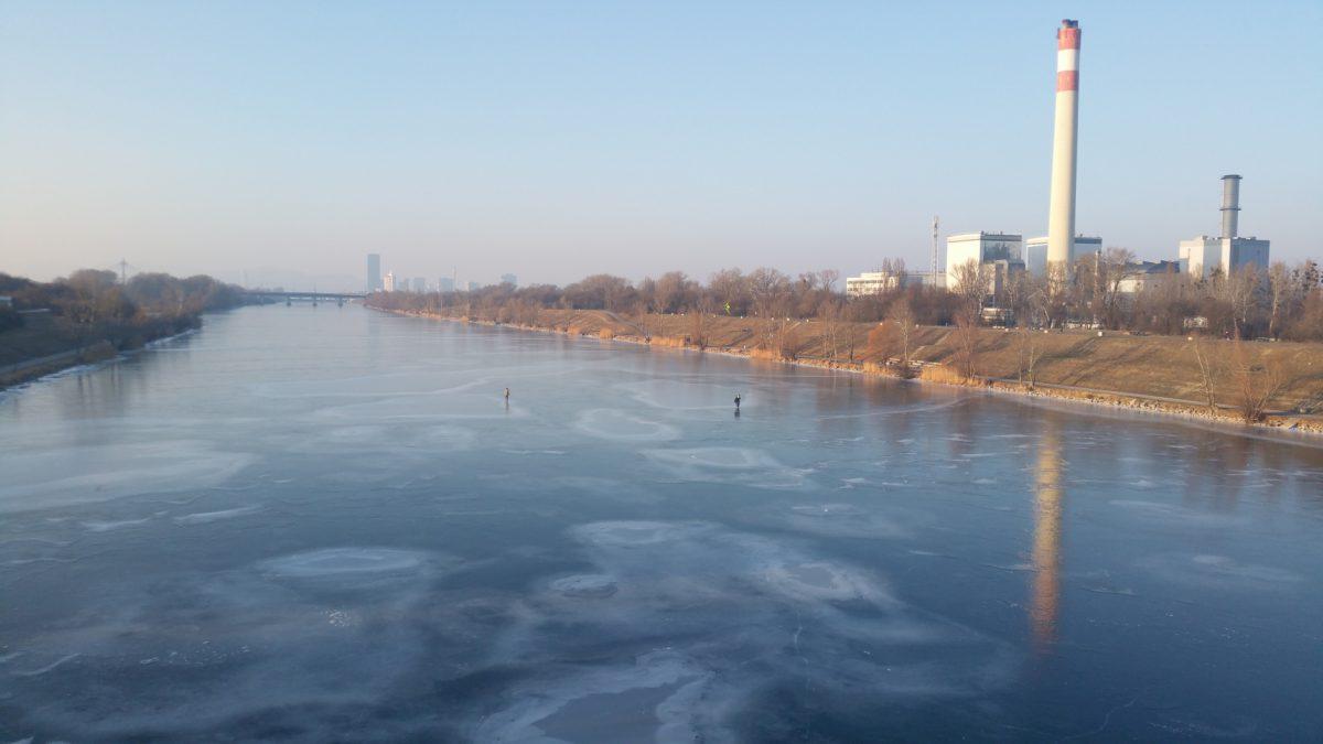 Wien bei Eis und Schnee